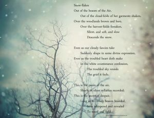 longfellow snow poem