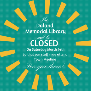 Daland Memorial Library Closed