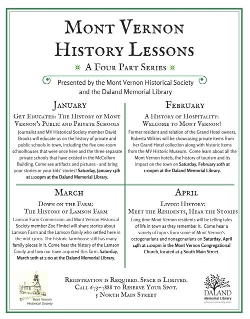 Mont Vernon Historical Society